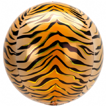 "Animalz Balloon - Animalz Tiger Print Orbz (15"") 1pc"